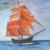 Aquarelle_Landschaften 2-6-42_rote-segeln