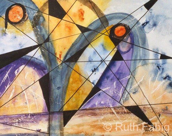 Aquarelle_kubistisch 5-1-58