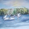 Aquarelle_Tiere 5-2-24_kraniche